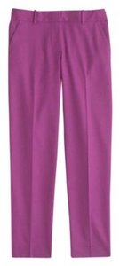 J.Crew Wool Blend Pink Summer Hyacinth Capri/Cropped Pants bright dahlia