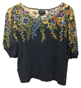 Deletta Flowy Flowered Crop Top Navy/Green/Orange/Yellow/Lilac