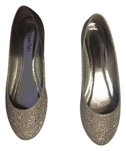 Dream Pairs by Toetos Rhinestone Sparkle silver Flats