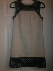 Ann Taylor short dress Black and cream Tweed Eyelet on Tradesy
