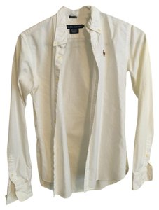 Ralph Lauren Collar Button Down Shirt White