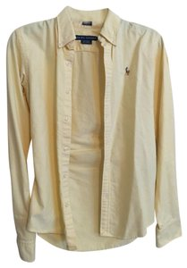 Ralph Lauren Collar Button Down Shirt Yellow