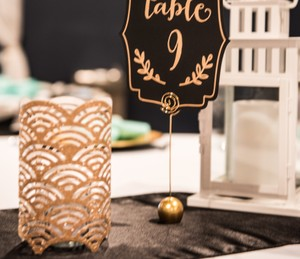 20 Gold Sparkly Paper Lanterns