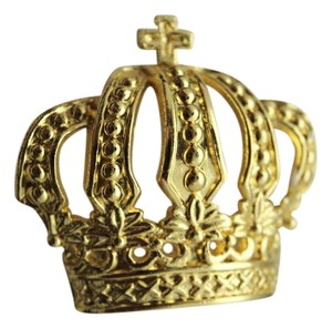 New Men Street Hip Hop Style Belt Buckle Silver Metal White Gold Crown with Cross King