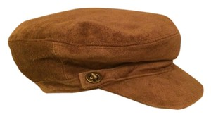 Coach Coach Brown Suede Newsboy Cap M/L