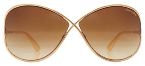 Tom Ford MIRANDA OVERSIZED SOFT SQUARE SUNGLASSES In Gold Like New