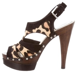Dior Black brown animal Sandals