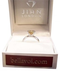 Jian London Citrine Heart Shaped Northern Lights Ring