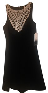 Kensie short dress Black and white Lace Fit Flare on Tradesy