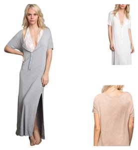 Burnout Gray Maxi Dress by Bohemian Free People
