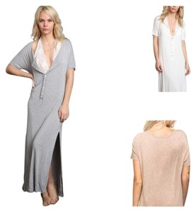 Burnout Gray Maxi Dress by Other Bohemian Free People Anthropology Hippie Vintage