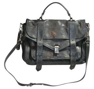 Proenza Schouler Classic Leather Satchel in Black