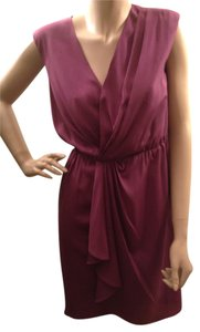 Ann Taylor LOFT Gathered Ruched Sleeveless Dress