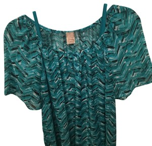 Faded Glory Top Teal