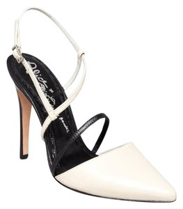 Alice + Olivia Ivory and Black Pumps