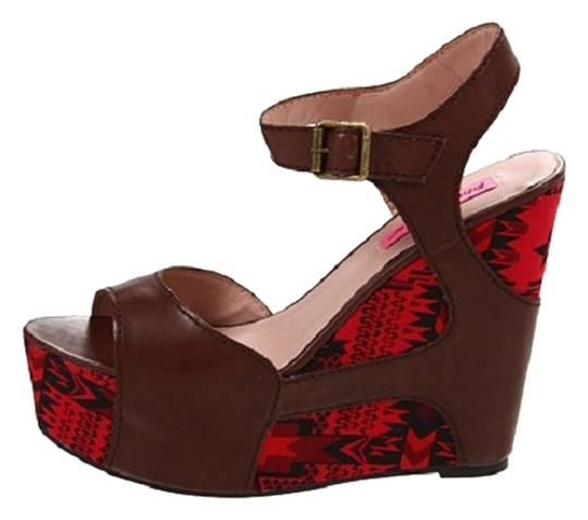 Betsey Johnson Cognac Sandals