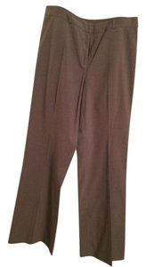 New York & Company Tall Stretch Work Casual Straight Pants Tan striped