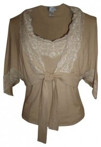 Spiegel Cotton Sweater Set Taupe/Cream Xl Top Taupe/Cream