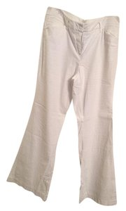 New York & Company Linen Tall Dressy Work Casual Straight Pants White
