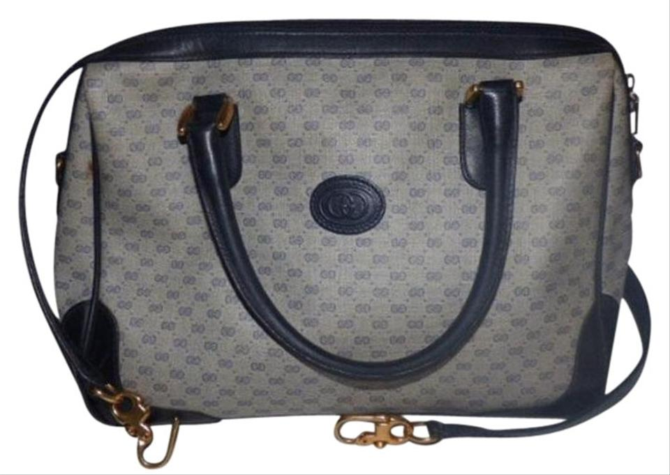 Gucci Doctor s Speedy Boston Classic Shades Of Satchel in navy blue small G  logo ... 20ffb12f8