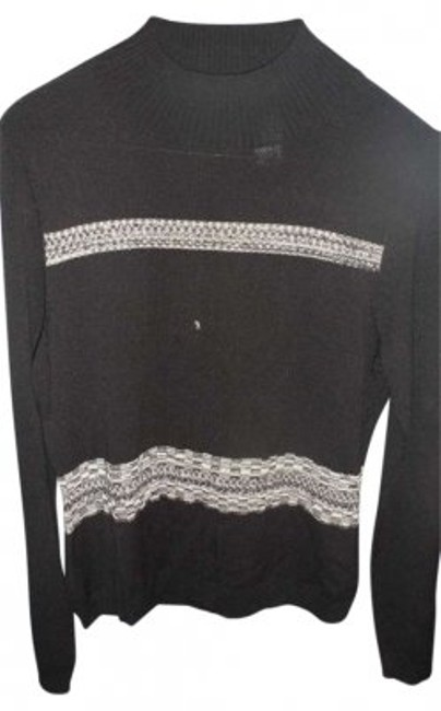 Preload https://item5.tradesy.com/images/liz-claiborne-black-high-neck-sweaterpullover-size-10-m-173009-0-0.jpg?width=400&height=650
