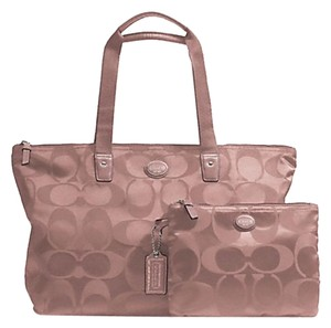 Coach Nylon Signature Mauve Travel Bag