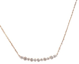 Other Sterling Silver CZ Bar Necklace 16