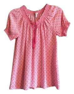 Joie Silk Nordstrom Stylish Flowy Top Pink/White
