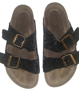 Birkenstock Black and gold Sandals