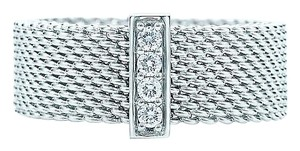 Tiffany & Co. Tiffany Somerset(TM) ring. Round brilliant diamonds, carat total weight .06. Sterling silver.