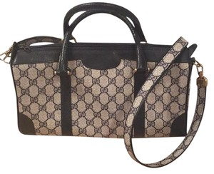 Gucci Satchel in Gucci Print Navy Blue