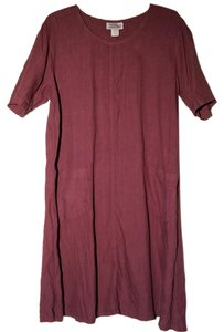 Physical Attraction short dress Burgundy Cotton on Tradesy