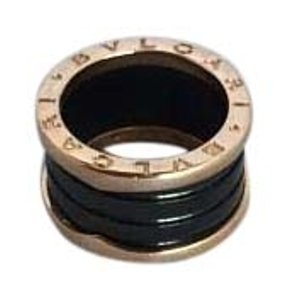BVLGARI BVLGARI B.zero1 black ceramic and 18kt pink gold ring