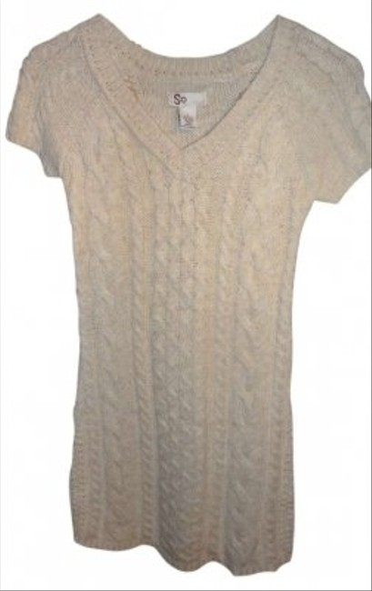 Social Occasions Cute Cable Knit Design Can Be Worn As Dress Or Sweater Acrylic/wool/nylon Blend Tunic