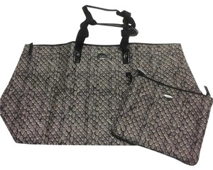 Coach Weekender Nylon Packable Tote Getaway Snake Print Gunmetal Travel Bag