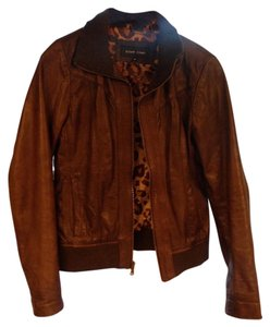 Black Rivet Chocolate brown Leather Jacket