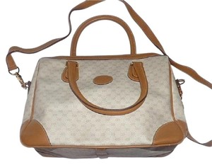 Gucci Doctor's Speedy/boston Classic Satchel in ivory and camel small G logo