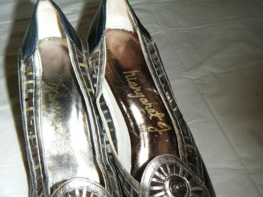 Other Vintage 6.5 Black/Silver/Gold Art Unique Medium Heel Black/Silver/Gold Pumps