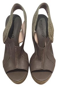 Boutique 9 Grey Wedges