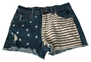 YMI Jeans Mini/Short Shorts Red, White, & Blue
