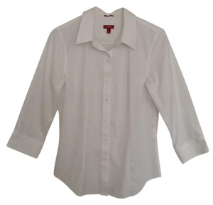 Talbots Button Down Button Down Shirt Crisp White