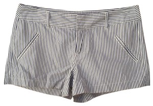LC Lauren Conrad Dress Shorts Navy Blue and Grey Stripes