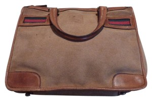 Gucci Doctor's Satchel in camel with red/green accents