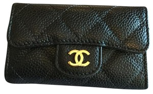 Chanel Chanel Caviar Black Quilted 6 Six Key Holder Brand New