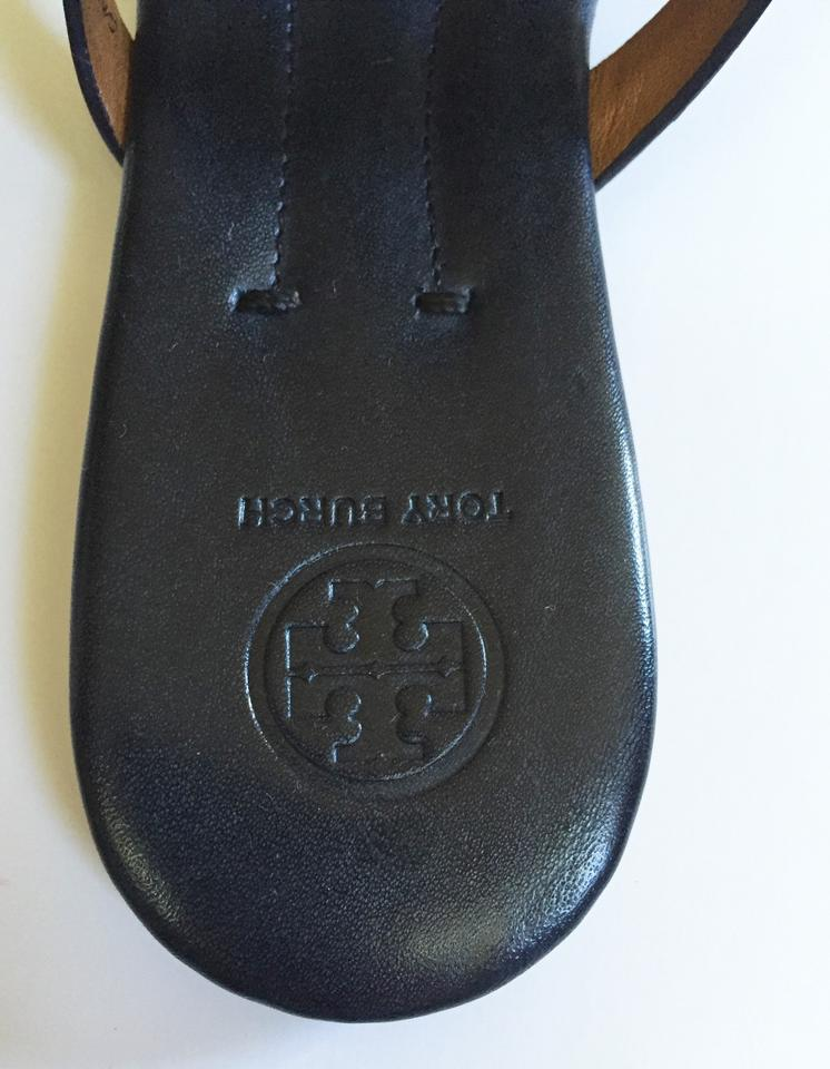 57d3177b34e85a Tory Burch Bright Navy In Box Miller 2 Hand Painted Leather Flat ...