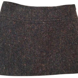 Theory Mini Skirt Multi-color; Nottingham fabric