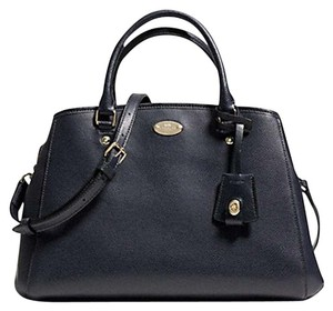 Coach Leather Gold Hardware Satchel in Navy/Midnight