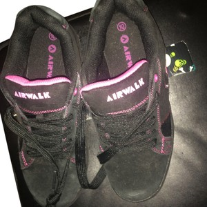 Airwalk Tennis Glitter Trim Glitter 10 Size 10 Sneakers Black With Pink Athletic