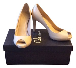 Cole Haan Violet Air Peep Toe Nude Beige Pumps