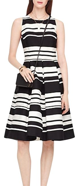 Item - Black and Cream Cape Stripe Long Formal Dress Size 2 (XS)